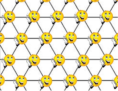 Un réseau triangulaire formant un pavage du plan.
