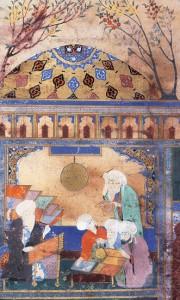 L'un des grands contributeurs de la trigonométrie, Nâsir ed-Dîn al-Tusi (1201-1274), dans son observatoire à Marâgha (Iran).
